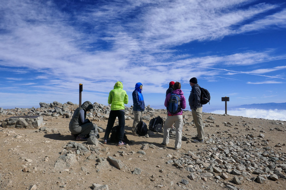 The group of friends we met along the way.  Had it not been for them and their experience on this mountain, I may not have made it up to the summit!