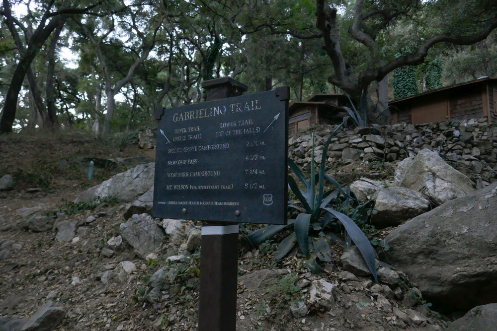 After the short spur trail to the falls, we back tracked to the Lower Gabrielino Trail.