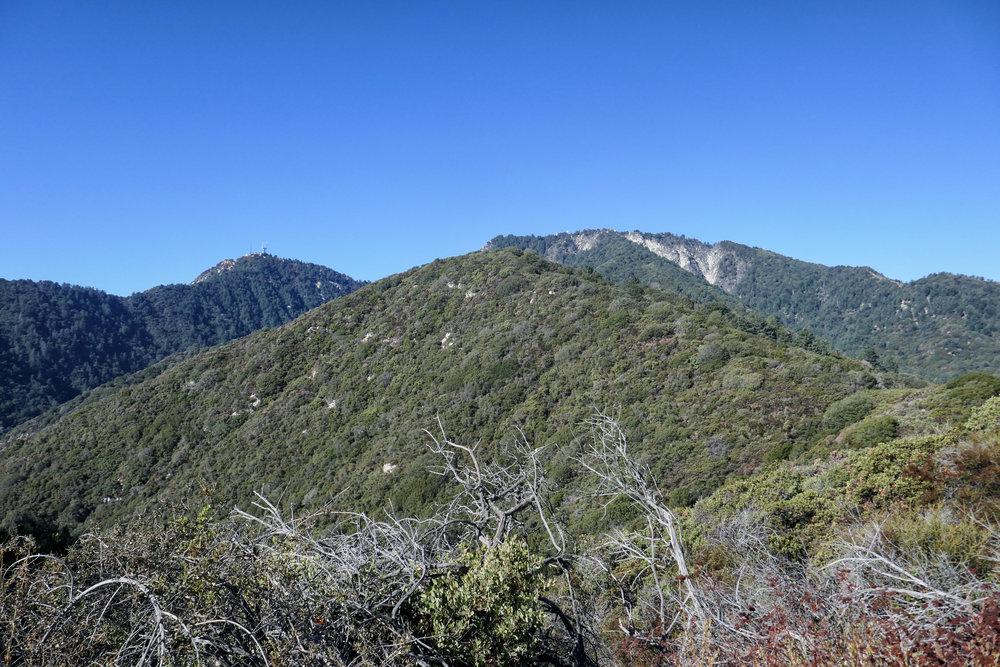 At the peak. Views of Mount Wilson.