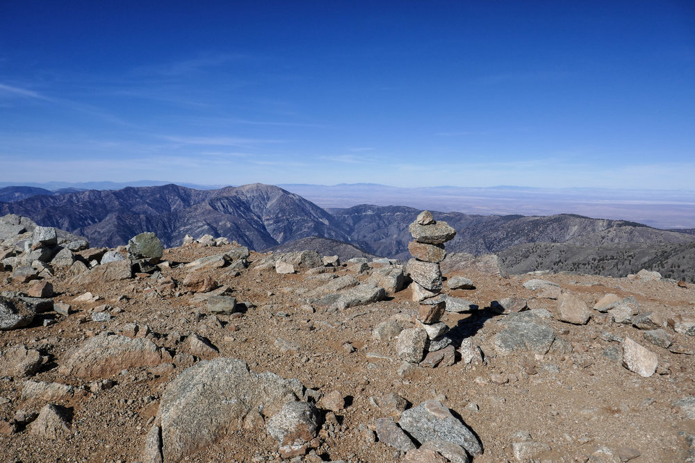 Enjoying the top of Los Angeles County's highest point.