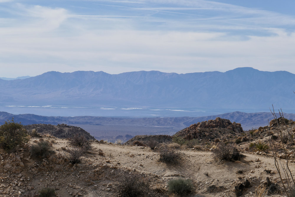 On the way back, a closer view of the Salton Sea.