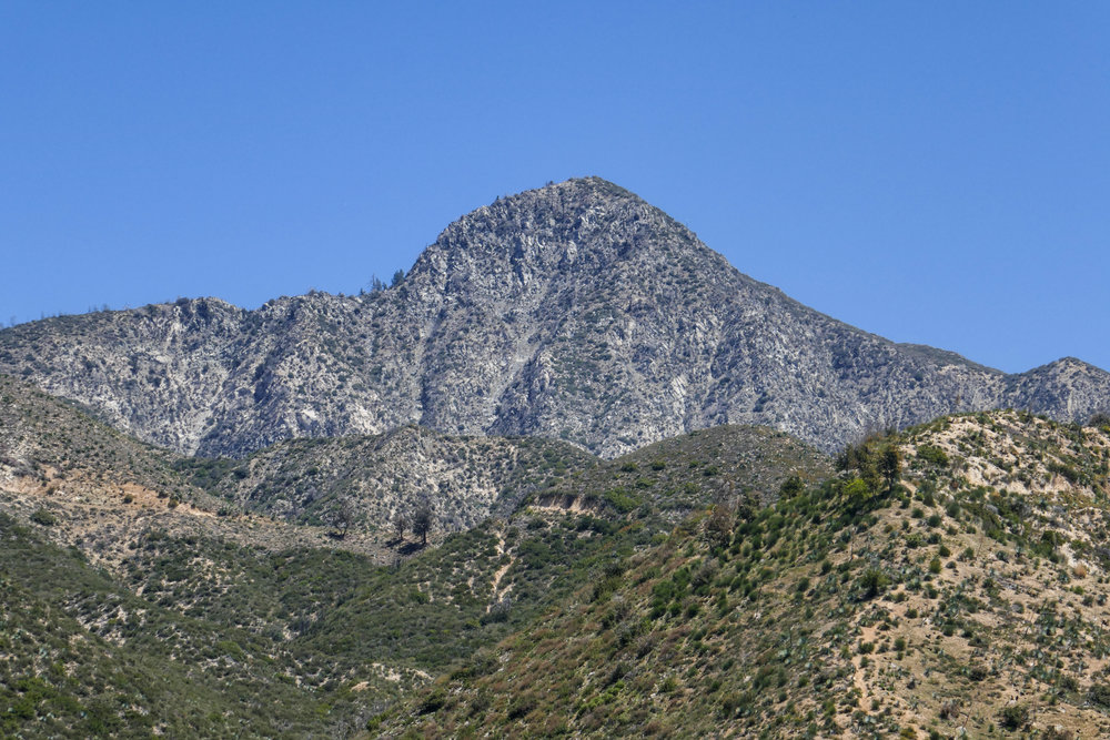 This is the view of Strawberry Peak just off Angeles Crest Highway.  It kinda does look like a strawberry, don't you think?