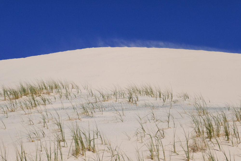 Winds blowing the sand.