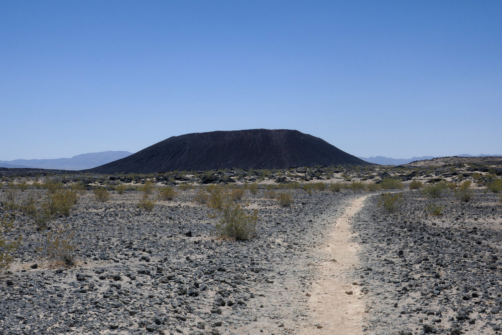 You can hike all the way to the crater and then climb up.