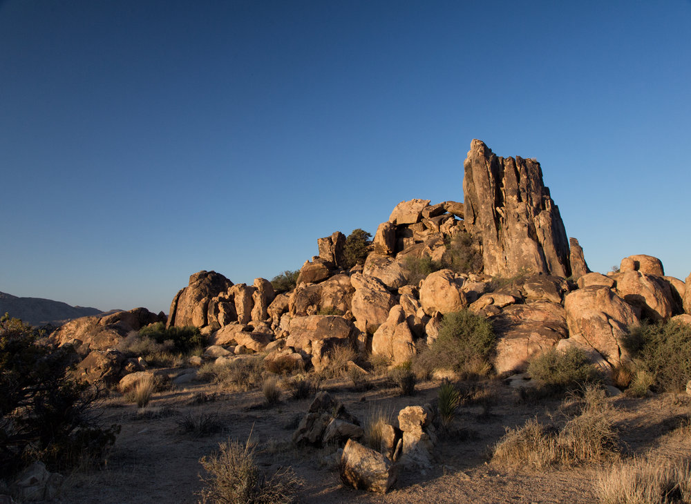 After checking into our Bed & Breakfast in Twentynine Palms and having some dinner, it was time to relax and enjoy a Joshua Tree National Park sunset.
