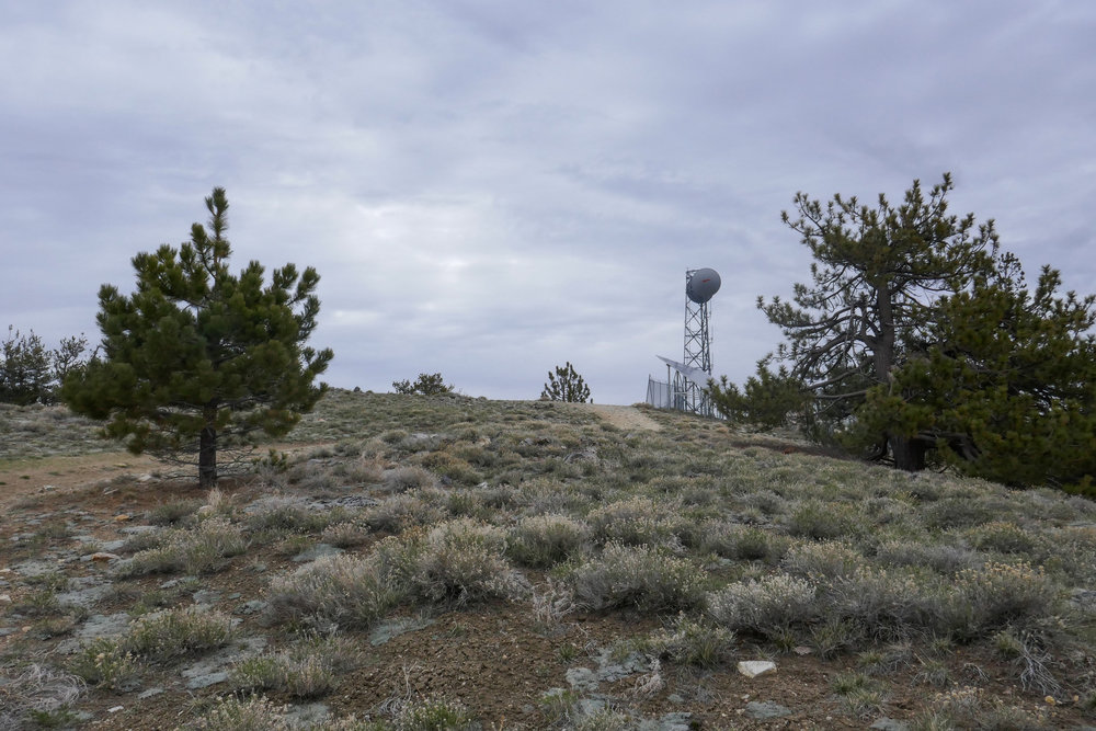 Approaching Mount Pinos.