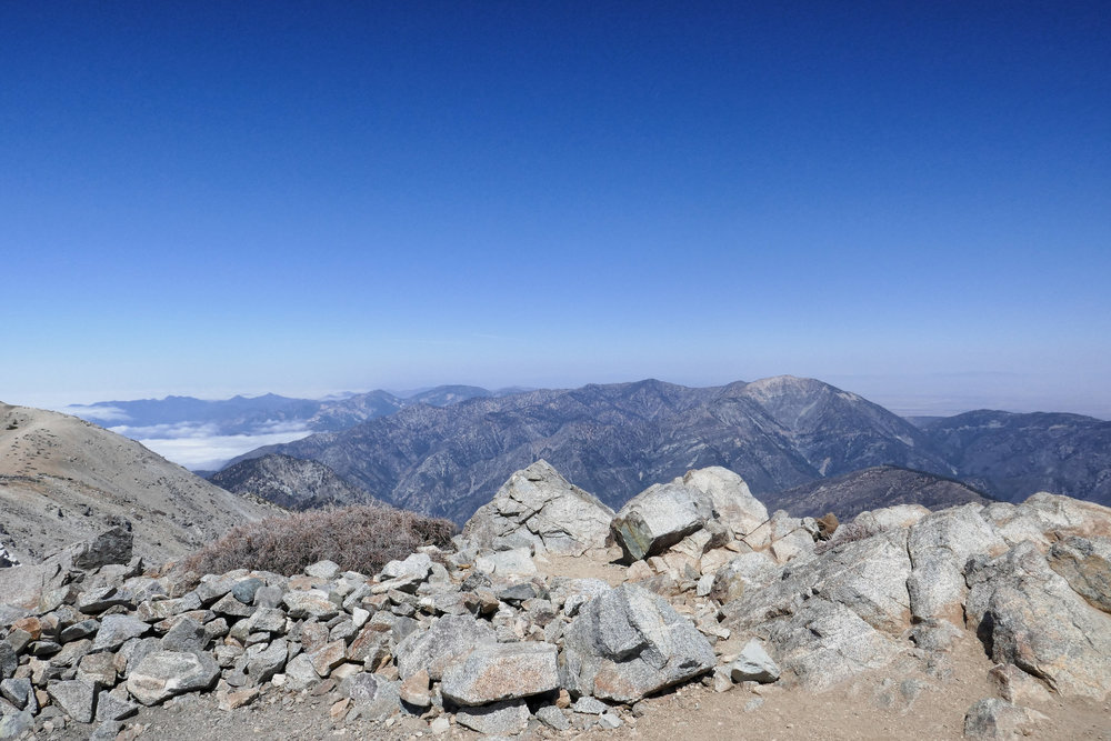 Made it to the summit!  The views are fantastic!  Looking over at Mt. Baden Powell in this direction.