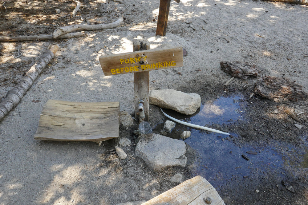 Water spigot at Round Valley.