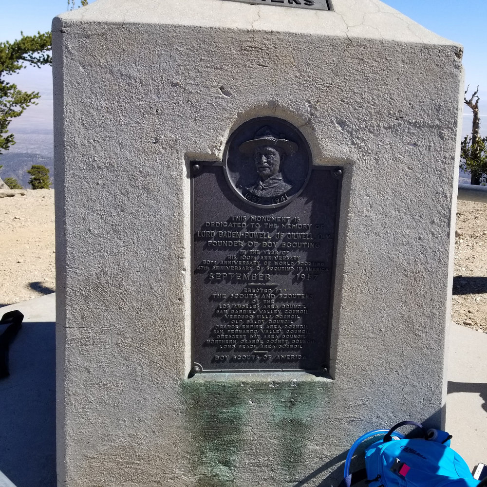 The Baden-Powell mounment at the summit.