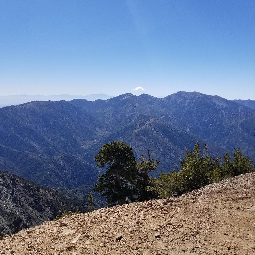 Looking over at Mount San Antonio, aka Mount Baldy.