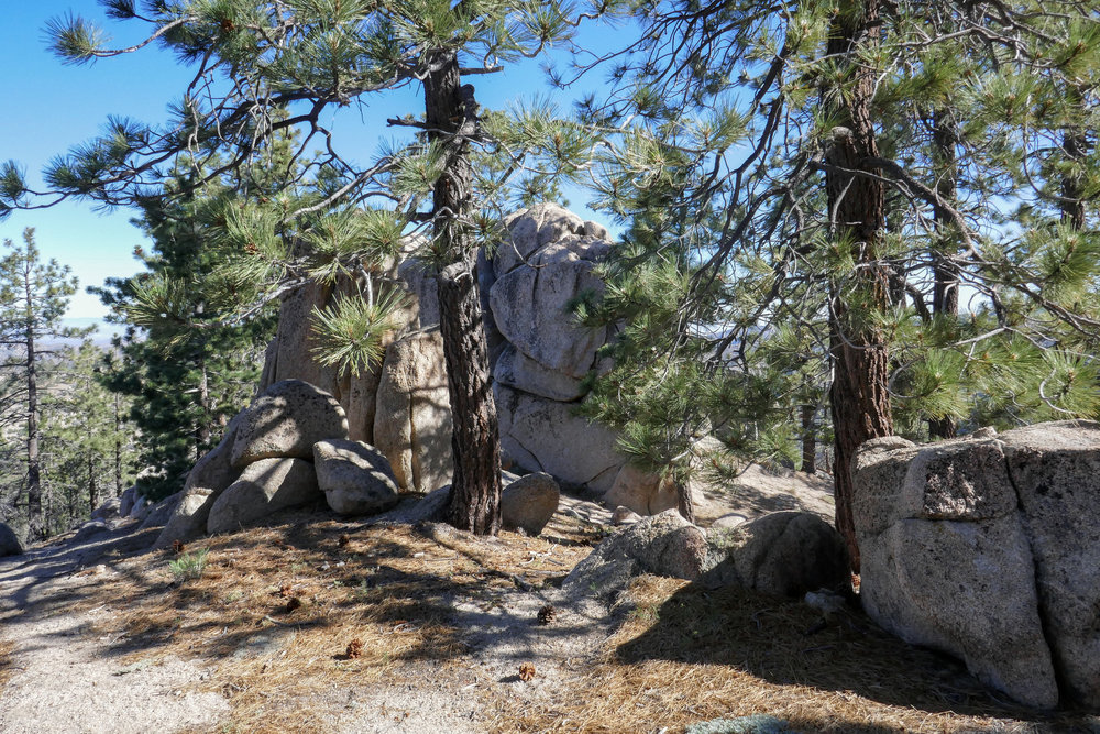 This rock formation was a nice place to stop and have a snack before starting our cross country trek up to the ridge.