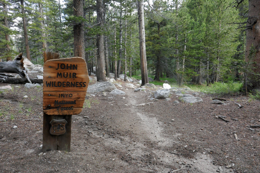 Now entering the John Muir Wilderness.
