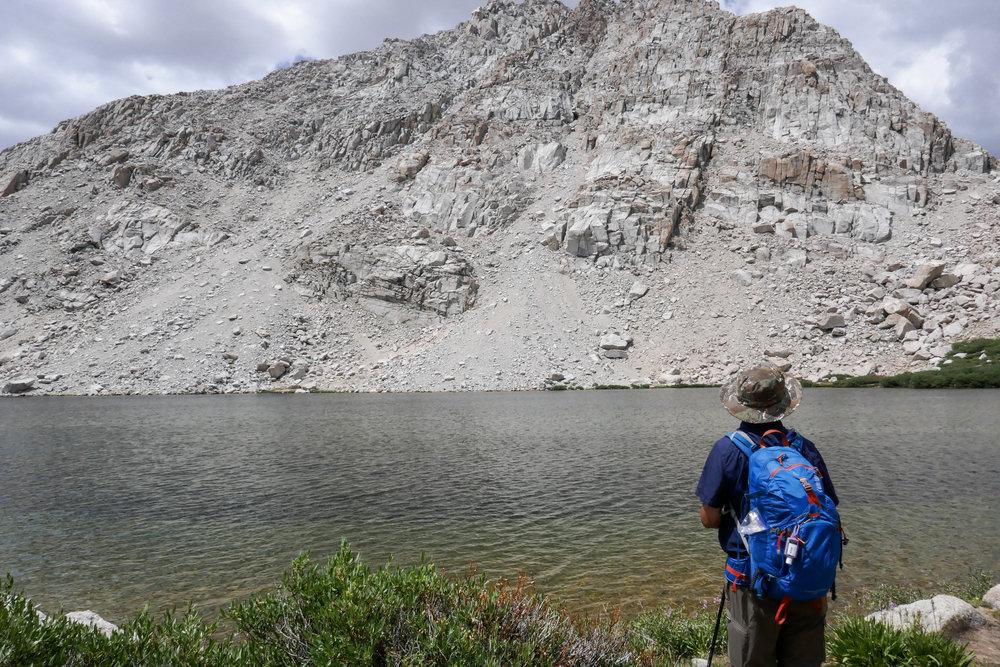 Here is my husband admiring lake #3