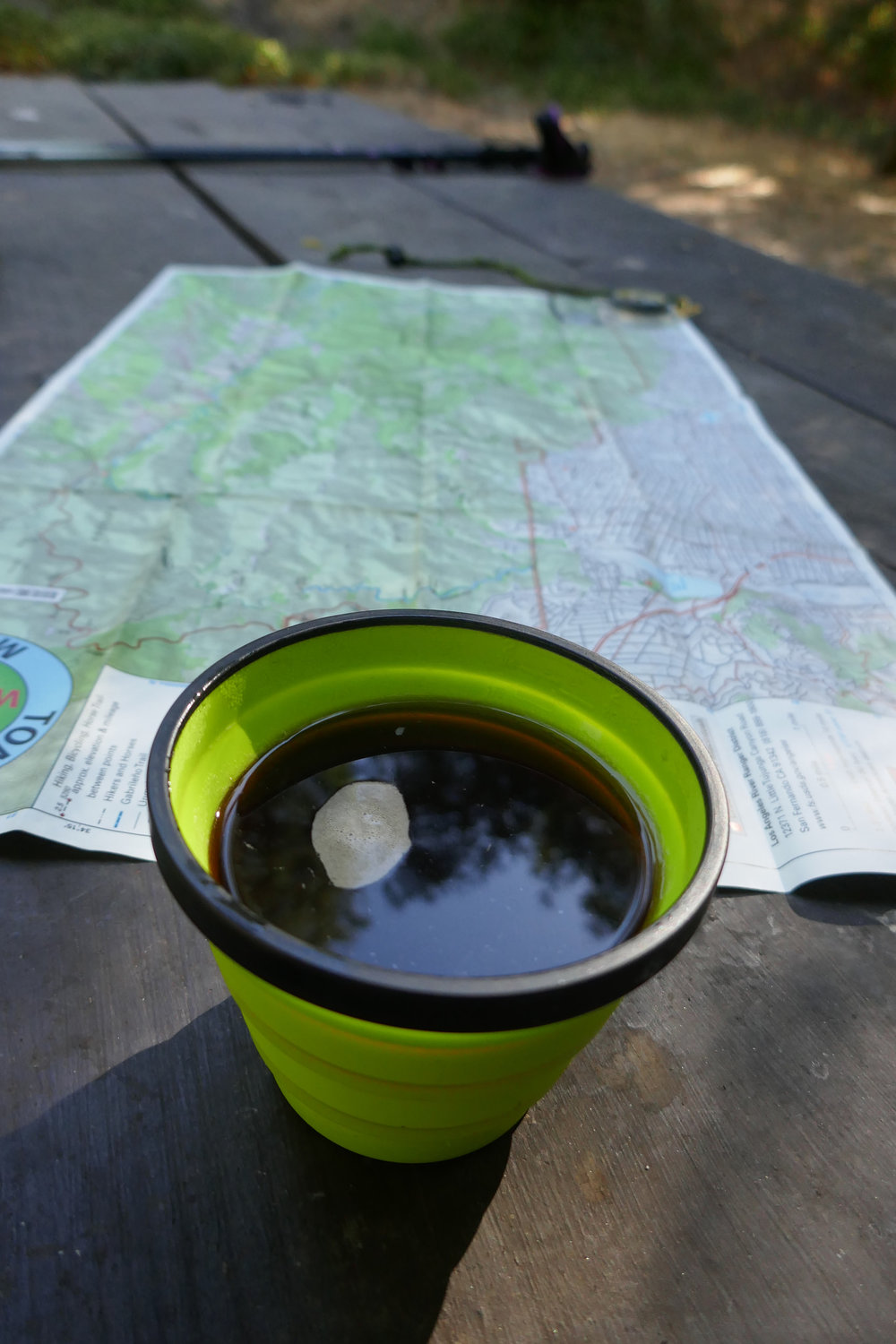 Coffee always tastes so good out on the trail!