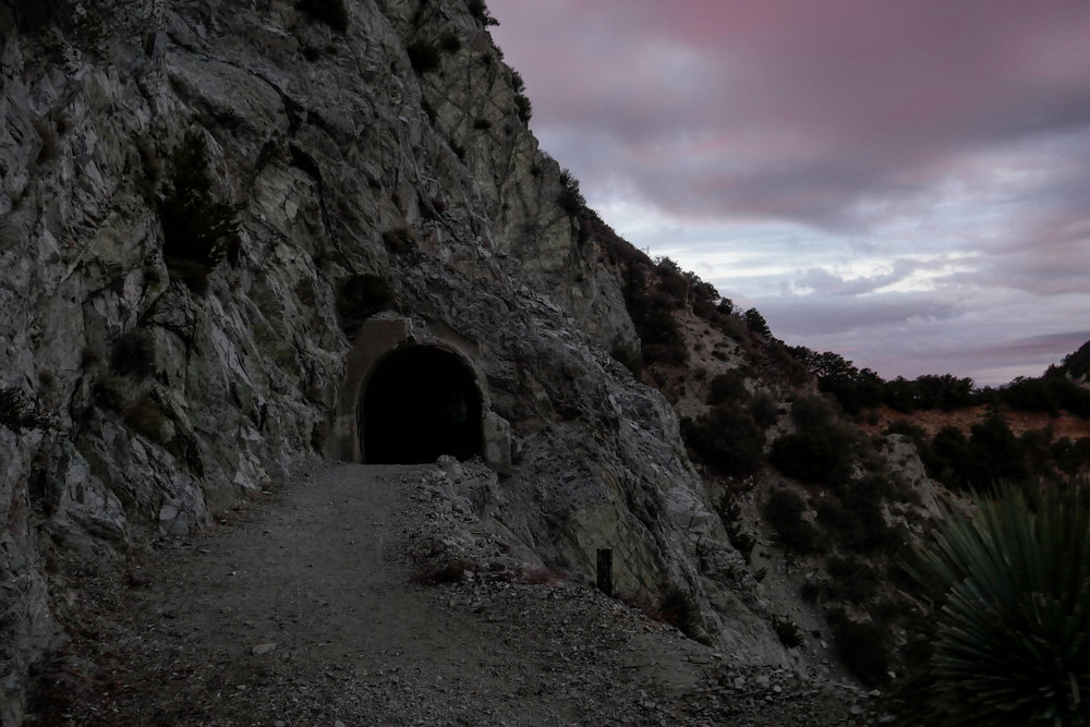 The Mueller Tunnel looked a bit foreboding after the sun had set.