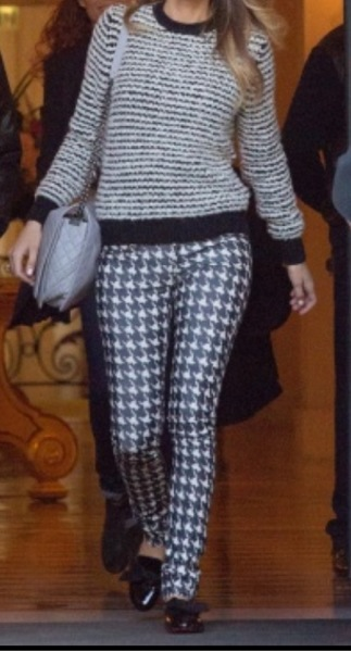 Mixing texture palettes -Isabel Marant Étoilesweater andtrouser pant
