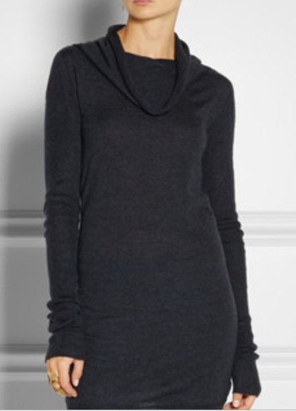 Rick Owens' cashmere tunic and stretch-denim leggings