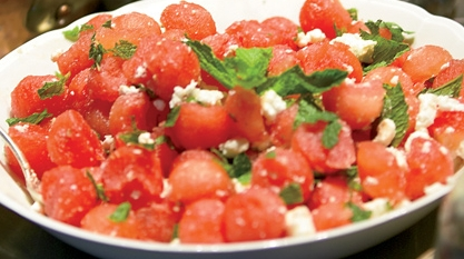 Feta, Mint Watermelon Salad