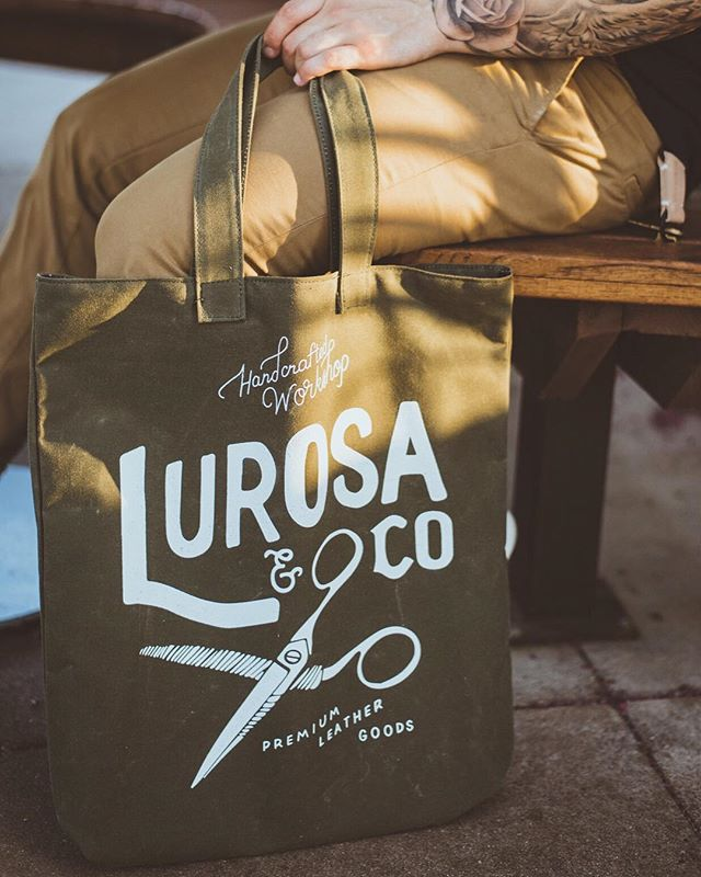 Vintage Tote. Available for a limited time only. #waxedcanvas #tote #totebag #vintagetote #lurosa #lurosamfgco #lurosaco #leathergoods #handmade #handcrafted #workshop