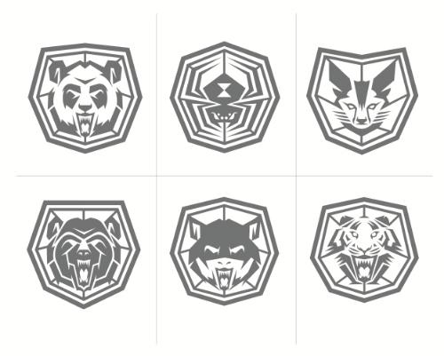 Classifications: Clockwise -- Panda, Spider, Jackal, Kitten, Bat, Tiger