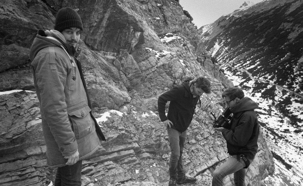 Shooting on the edge.