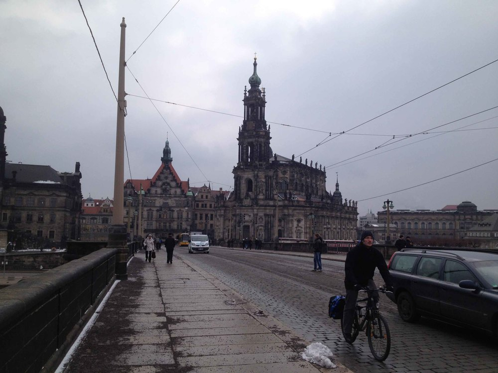 Dresden, Germany, was the first city where we could actually do some sightseeing. Matze and I went to the Frauenkirche (church) and to the historic part of the town under rough weather conditions. But it was worth it. Dresden is a beautiful city!