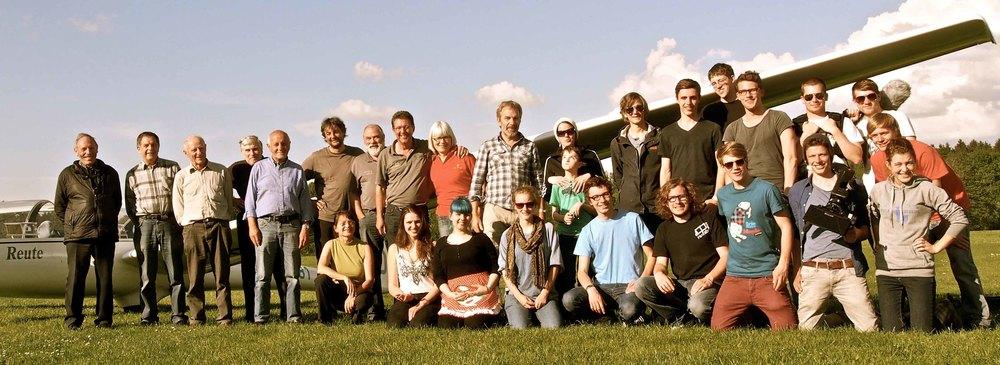 Das Luftschlossteam auf dem Segelflugplatz Bad Waldsee-Reute.