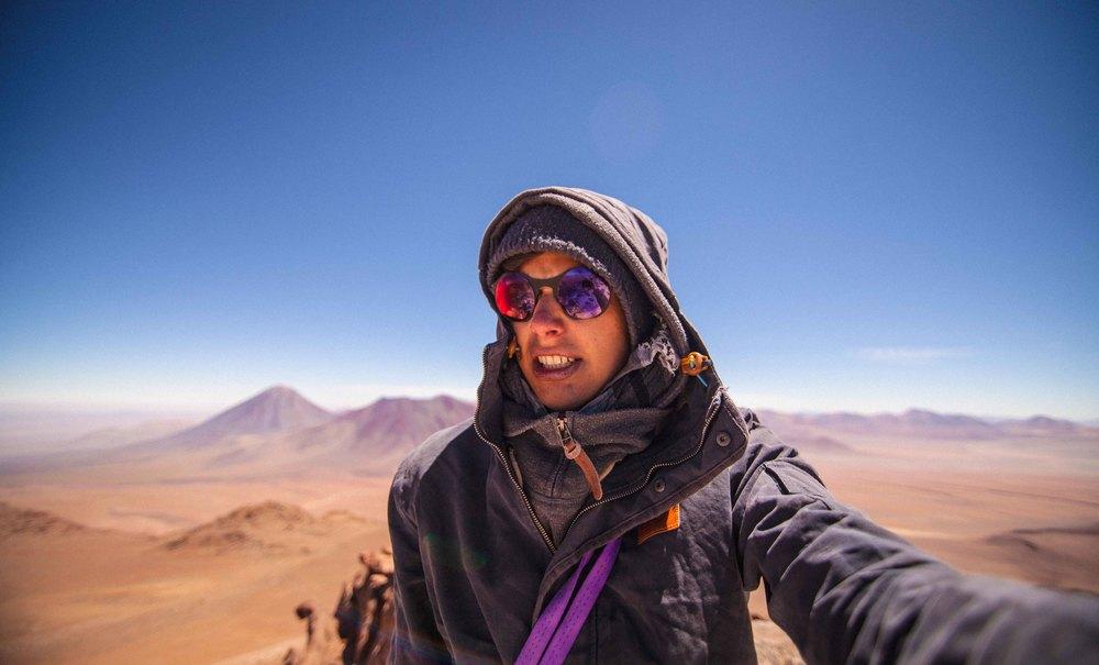 Josua auf dem Gipfel des Cerro Toco (5604m)
