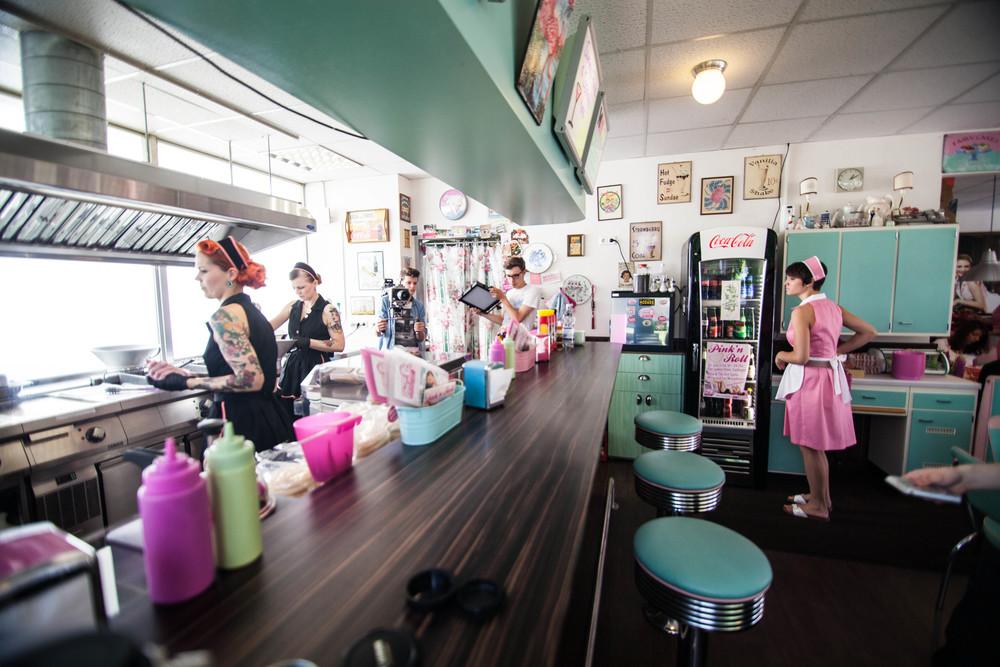 The Ladies Diner(Esslingen) ist ein Traum für alle Burgerliebhaber und 50er Jahre Fans.
