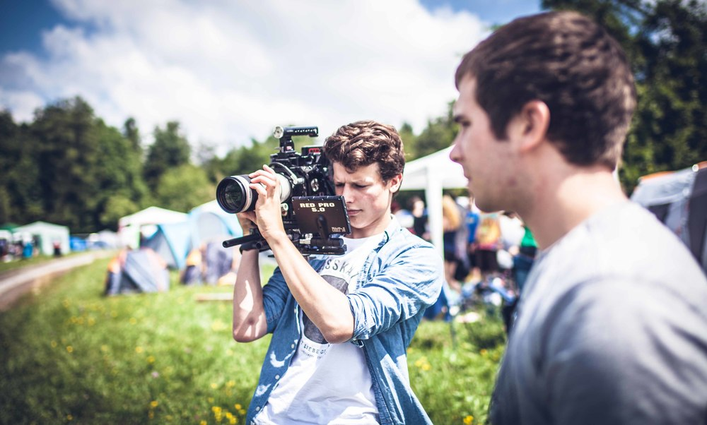 Josua and Linus shooting on RED EPIC at the Happiness Festival.