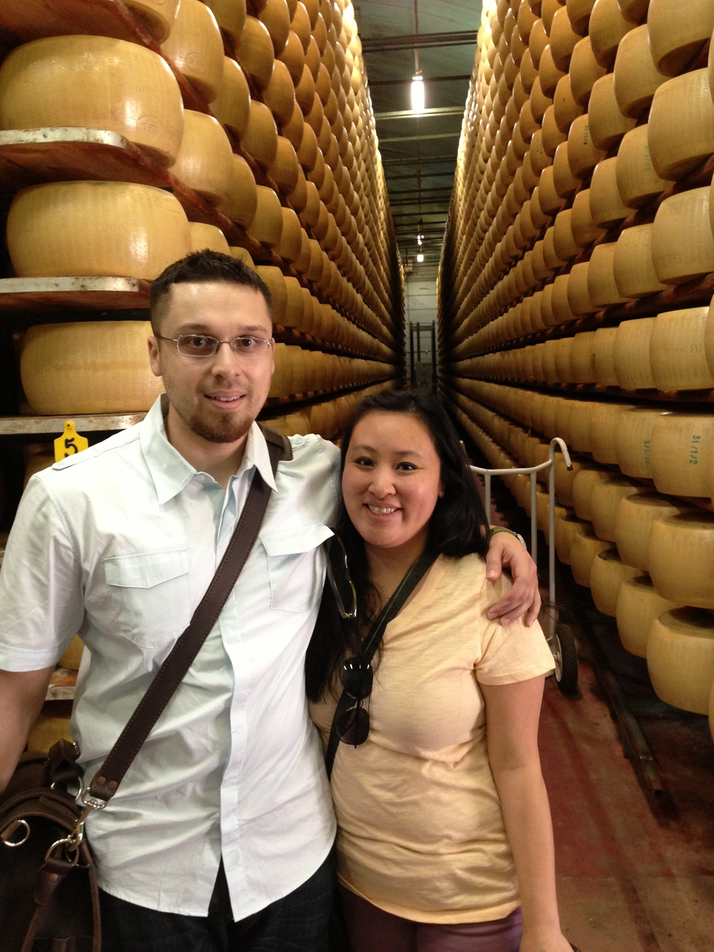 Thousands of wheels of Parmesan