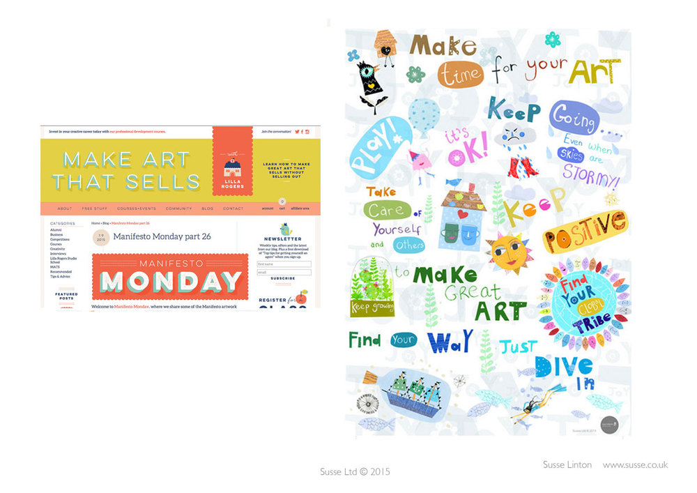 Make Art That Sells Blog- Manifesto Monday June 2015