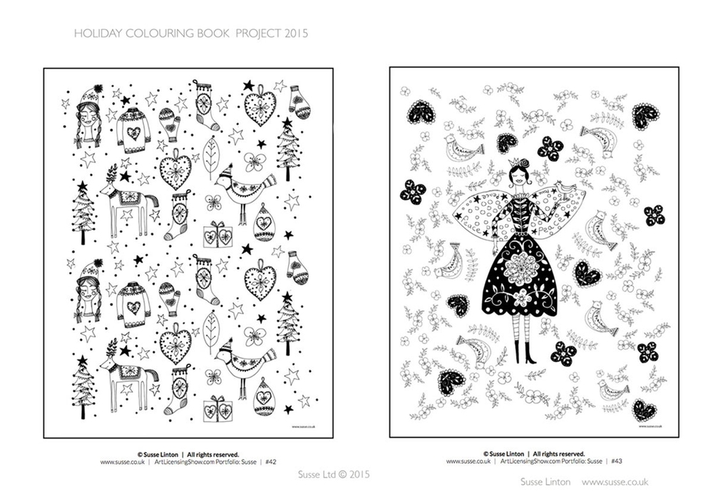 Art Licensing Show Holiday Colouring Book 2015