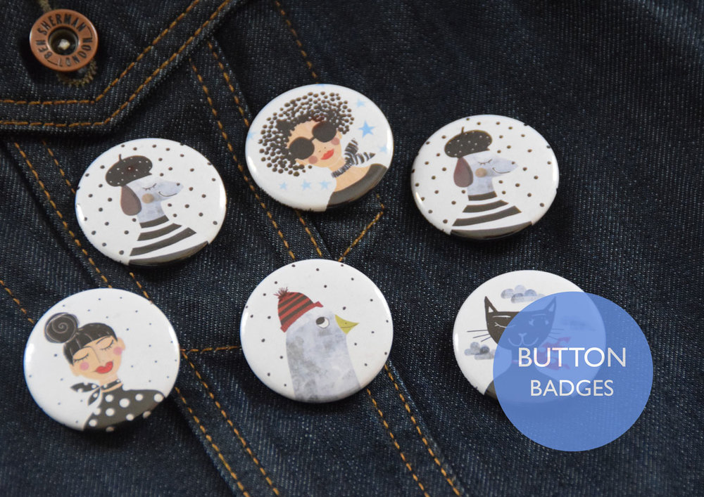 Happy Button Badges by Susse Collection