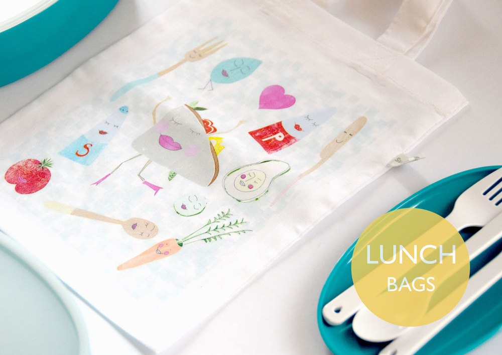 Happy Lunch Tote by Susse Collection