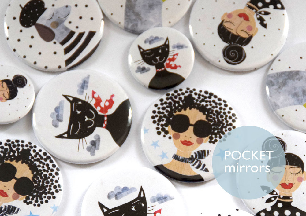 Susse Collection Pocket Mirrors