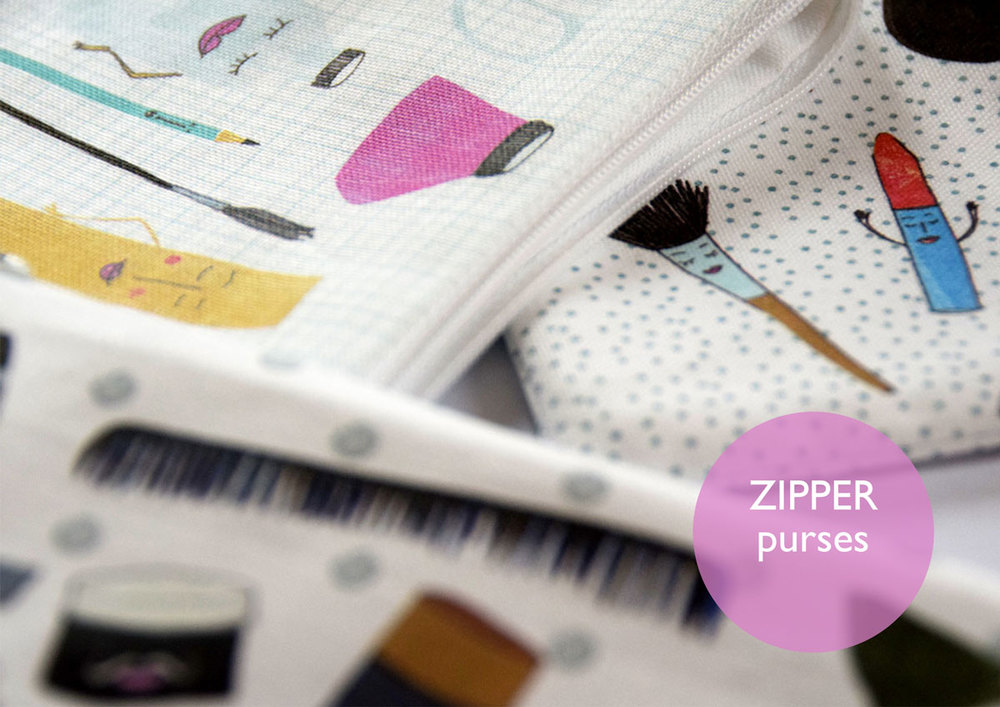 Zipper Purses by Susse Collection