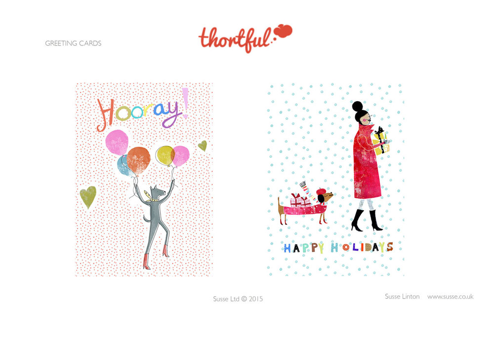 Greeting Card designs for Thortful.com