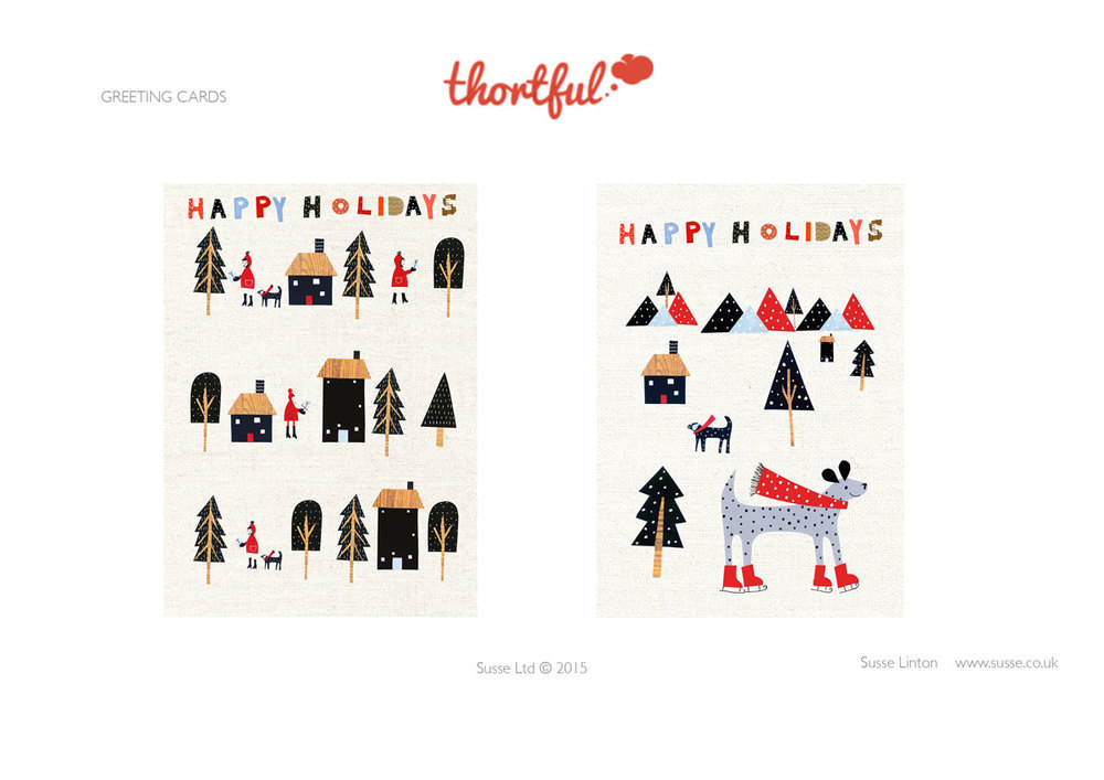Happy Holidays Greeting Card designs for Thortful.com