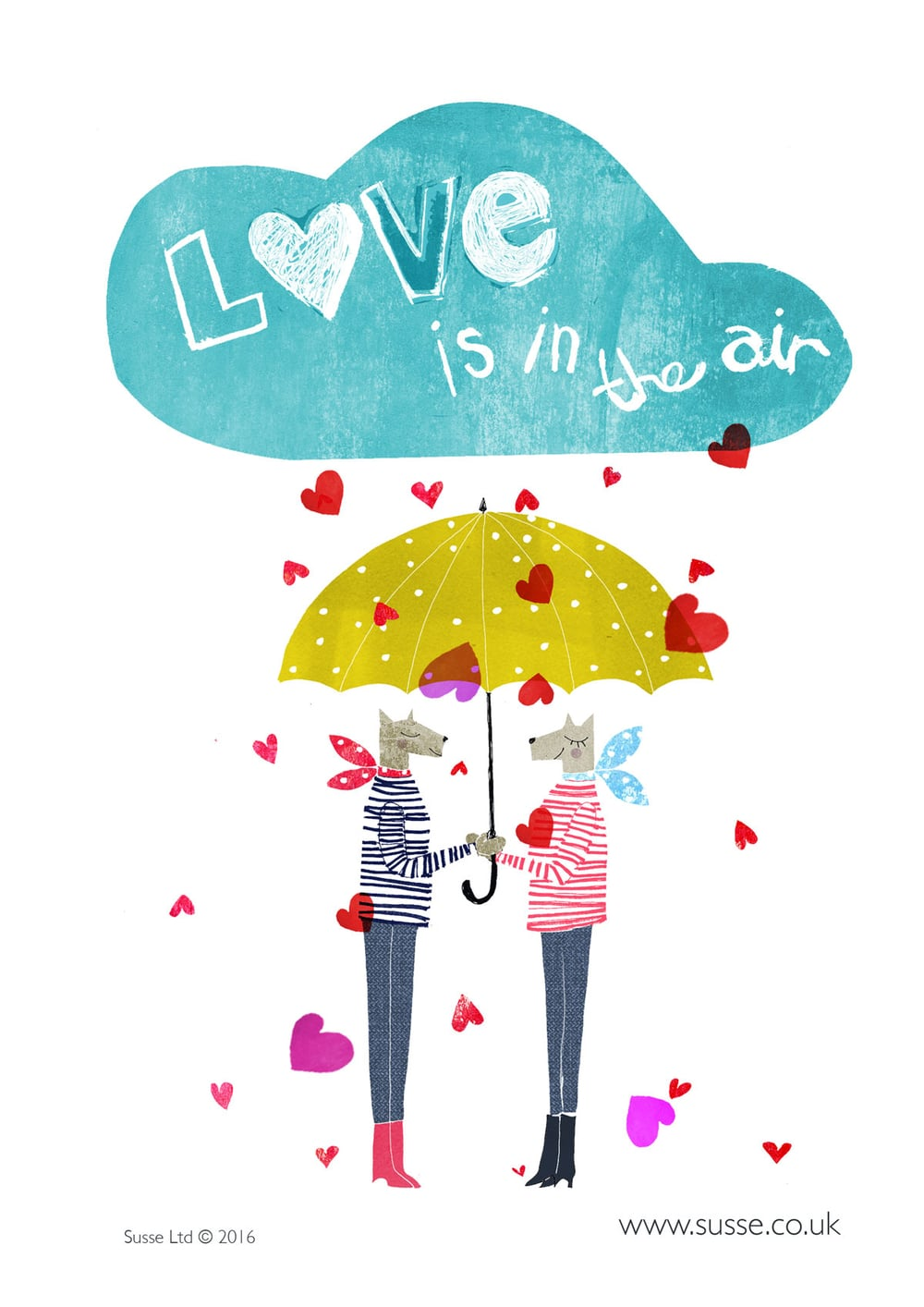 Love is in the Air Thortful cards Susse Llinton