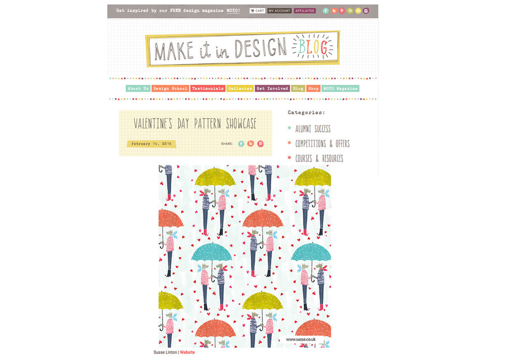 Pattern showcase on make it in design Susse.