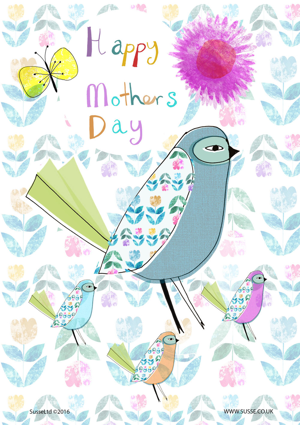 Happy Mothers day Card Throful Susse