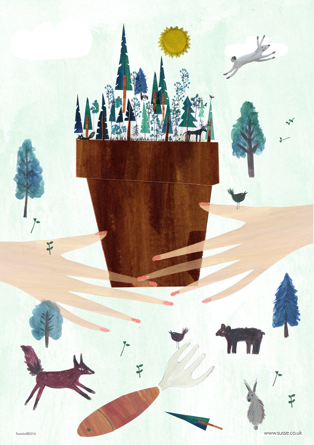 Illustration Friday Wood Susse