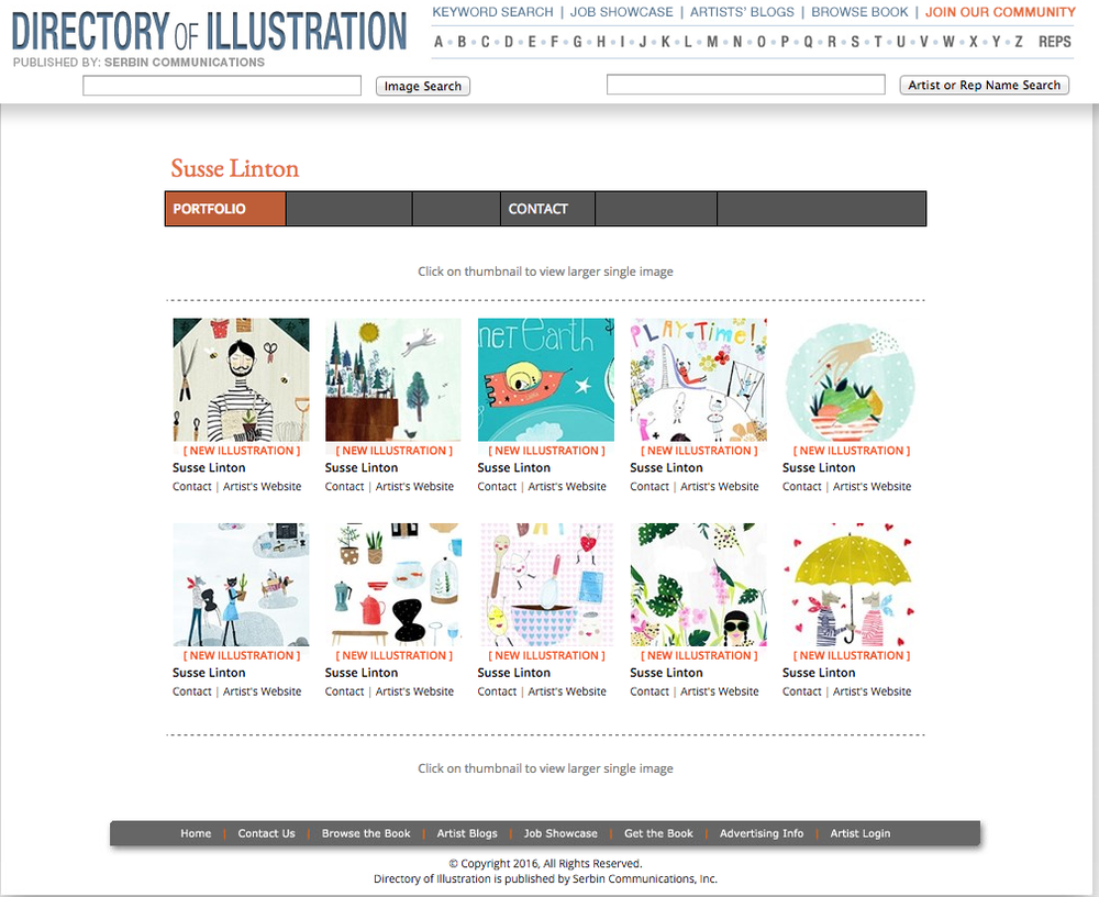 Hello from my desk this week. I have some exciting news you can now find my work on two illustration directories. The first is the Directory of illustration. Thank you to the collabration with the Association of illustrators and the Directory of illustrators . Members can now have small profile page as part of the directory you can see my profile here