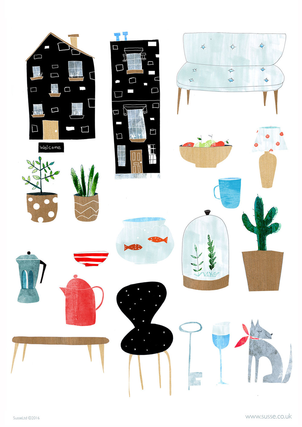 Spot Illustrations for the Home