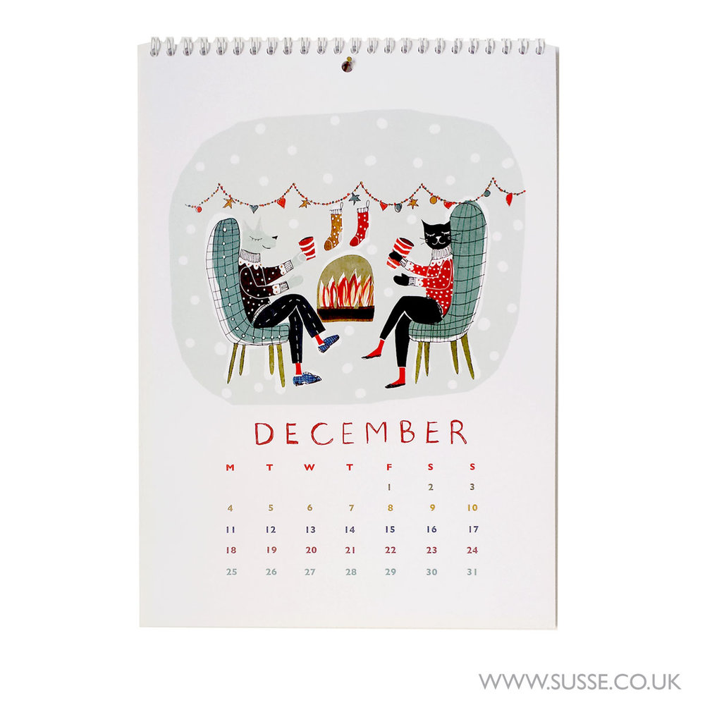 Susse Collection Calendar 2017 December page