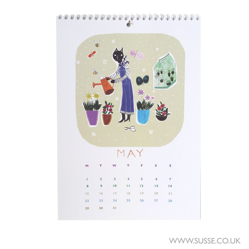 Susse Collection wall calendar 2017 May