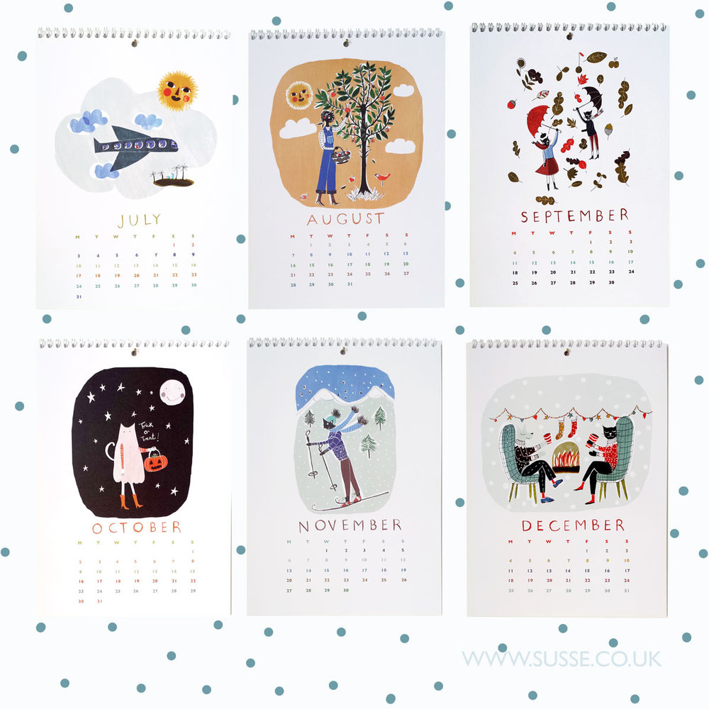 Susse Collection wall Calendar 2017 pages1