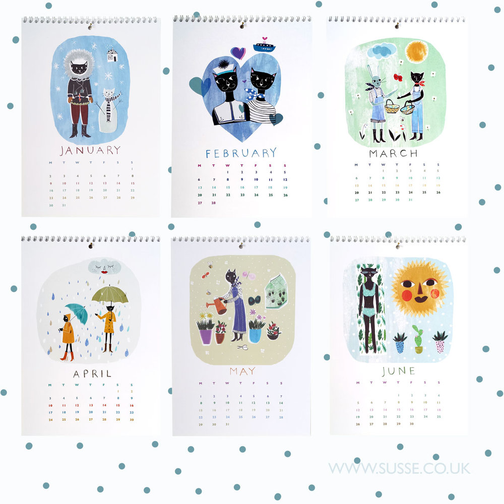 Susse Collection wall calendar 2017 pages 2