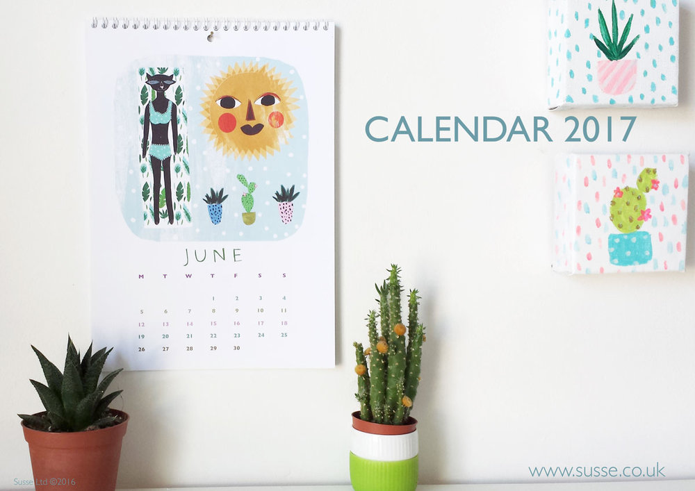 Susse Collection Wall Calendar 2017